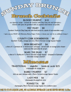 Brunch COCKTAIL menu 3 2016 copy
